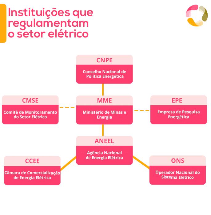 Instituições reguladoras do setor elétrico, incluindo o CNPE